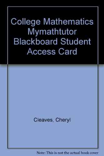 9780132403313: MyMathTutor in Blackboard, Student Access Card, College Mathematics