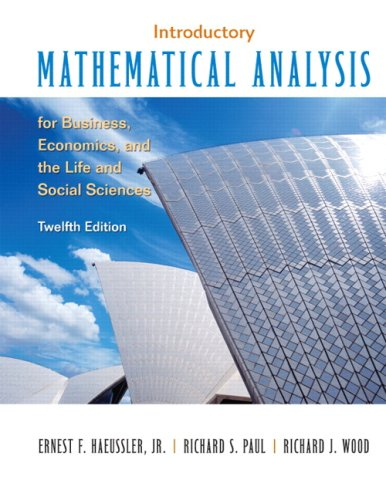 9780132404228: Introductory Mathematical Analysis for Business, Economics and the Life and Social Sciences: United States Edition