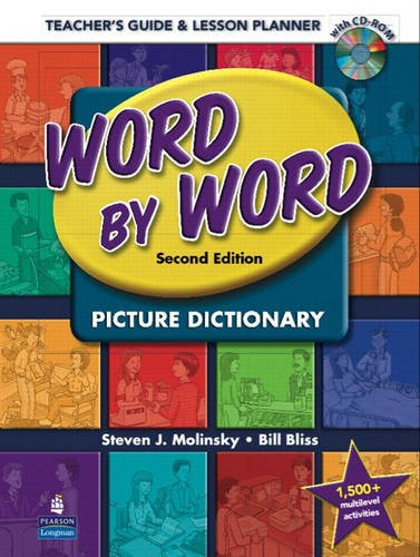 9780132405225: Word by Word Picture Dictionary: Teacher's Guide & Lesson Planner (Book & CD-ROM)