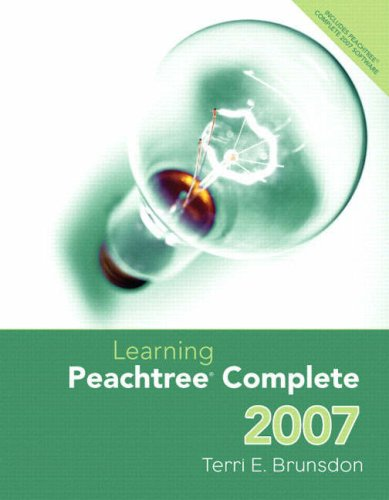9780132405577: Learning Peachtree Complete 2007 &  Peachtree Complete CD Package