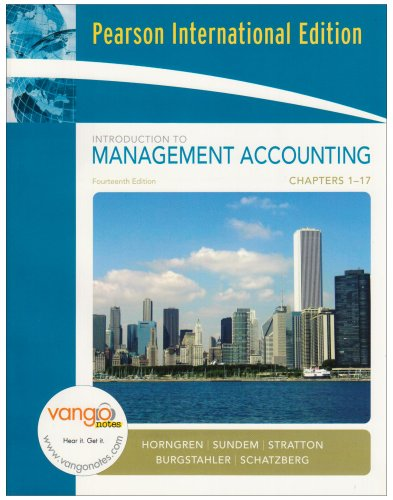 9780132405690: Introduction to Management Accounting: Chapters 1-17: Full Book