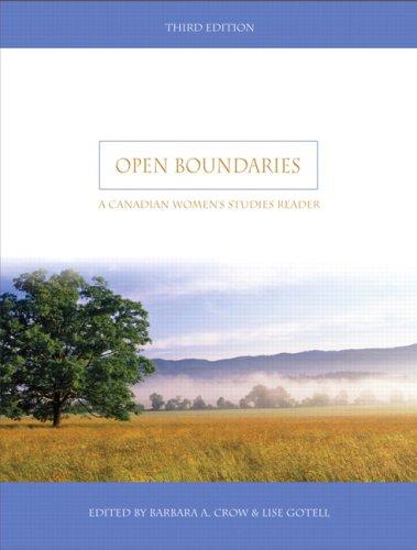 9780132413534: Open Boundaries: A Canadian Women's Studies Reader (3rd Edition)