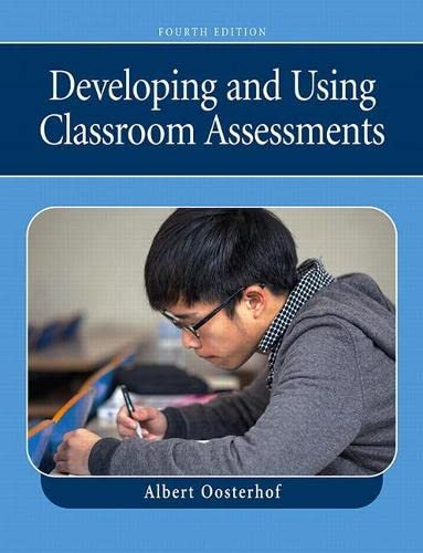 9780132414296: Developing and Using Classroom Assessments (4th Edition)