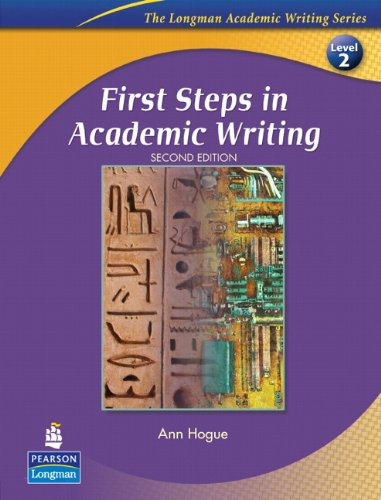 9780132414883: First Steps in Academic Writing: Student Book Level 2 (The Longman Academic Writing Series)