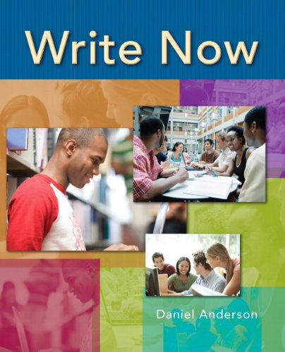 Write Now (013241547X) by Anderson, Daniel