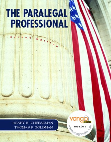 9780132417501: Paralegal Professional Value Package (includes OneKey Blackboard, Student Access Kit Paralegal Professional)