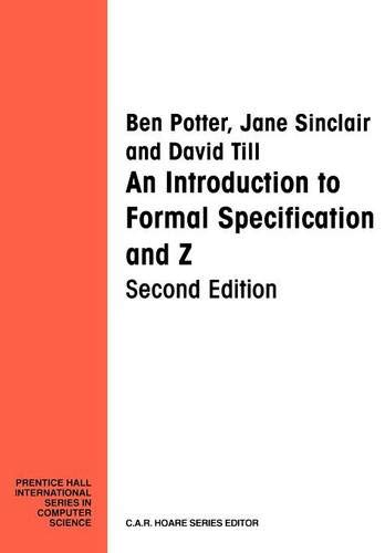 9780132422079: Introduction Formal Specification and Z (Prentice-Hall International Series in Computer Science)