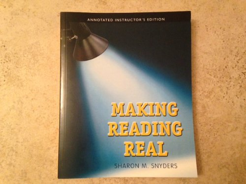 Aie Making Reading Real: Snyders, Sharon M.