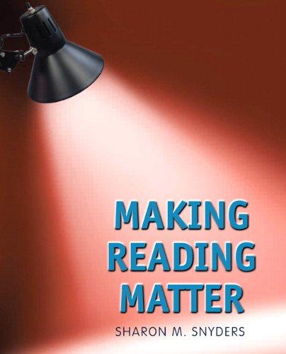 9780132423410: Making Reading Matter