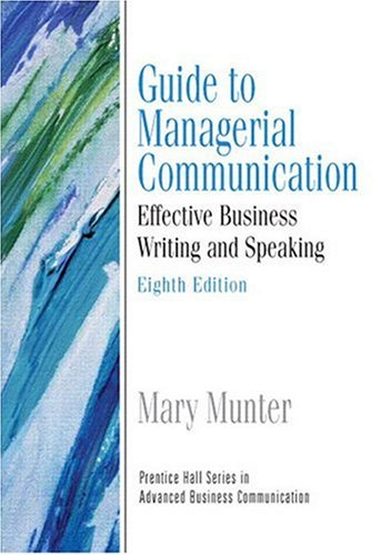 9780132424264: Guide to Managerial Communication (Guide to Business Communication Series) (8th Edition)
