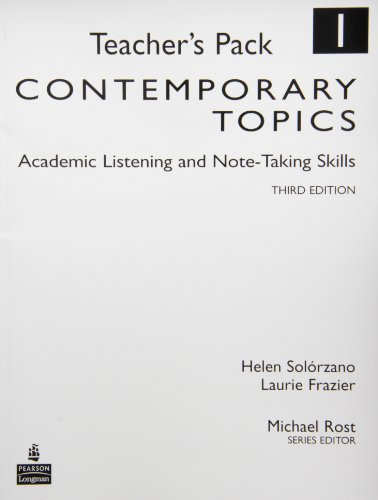 9780132424288: Contemporary Topics 1: Academic Listening and Note-Taking Skills, Teacher's Pack