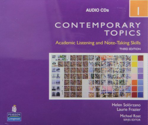 9780132424295: Contemporary Topics 1: Intermediate: Academic Listening and Note-taking Skills