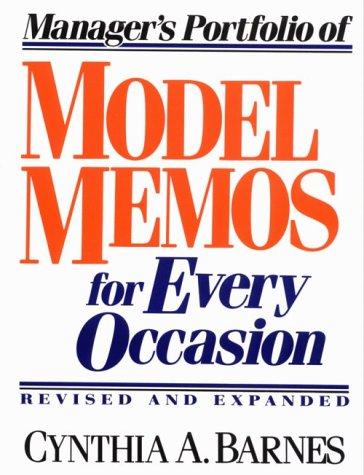 9780132425124: Manager's Portfolio of Model Memos for Every Occasion