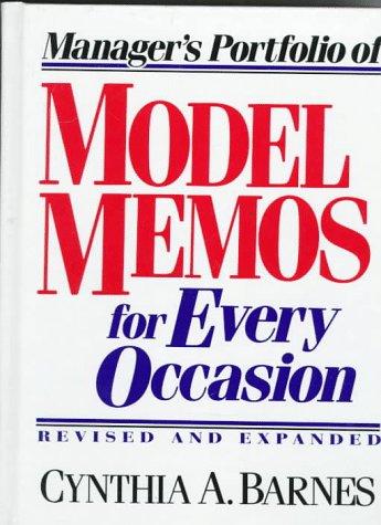 9780132425209: Manager's Portfolio of Model Memos for Every Occasion
