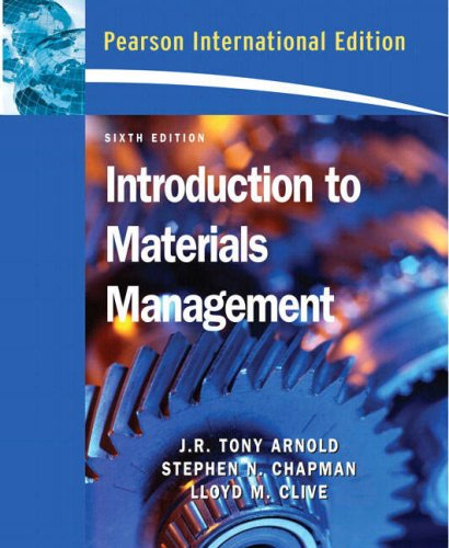 9780132425506: Introduction to Materials Management: International Edition