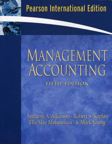 9780132427333: Management Accounting: International Edition