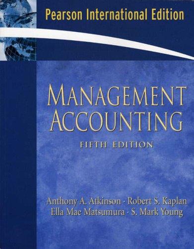 9780132427333: Management Accounting: International Edition