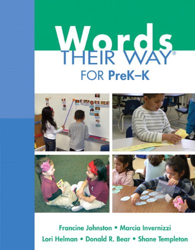 9780132430166: Words Their Way for PreK-K