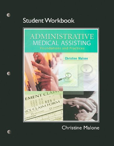 9780132431453: Student Workbook for Administrative Medical Assisting: Foundations and Practice