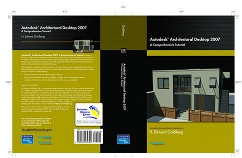 Autodesk Architectural Desktop 2007 9780132434324  A self-paced text that introduces users to the interface, commands, and features of the Autodesk Architectural Desktop 2007 drawing program. Organized to develop skills incrementally, this book contains numerous walk-throughs, step-by-step illustrations and over 150 hands-on exercises that acquaint users with the robust features and functions of this program. Using the author's knowledge of architecture, education and the Autodesk Architectural Desktop program, this text gives users an opportunity to learn how to operate the program, improve their own productivity and apply their skills to a commercial design problem. Emphasizes program features that are most applicable in the profession. Offers tips and techniques that enhance user productivity and have been learned through years in the field. Provides flexibility to use the book as a self-instructional resource. Logical organization presents program features and commands in the order they are used in professional practice.  An valuable tool for Architects, Architectural Draftsmen and CAD Managers.
