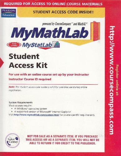9780132435505: MyMathLab - Includes MyStatLab (Student Access Code)