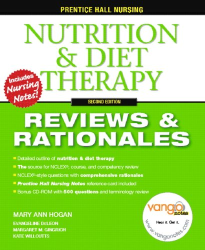 Prentice Hall Reviews & Rationales: Nutrition & Diet Therapy (2nd Edition): Hogan, MaryAnn;...