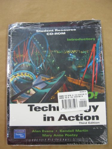 9780132437493: Technology in Action, Third Edition (Book & Student Resource CD-ROM)