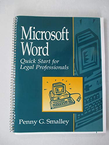 9780132440967: Microsoft Word: Quick Start for Legal Professionals