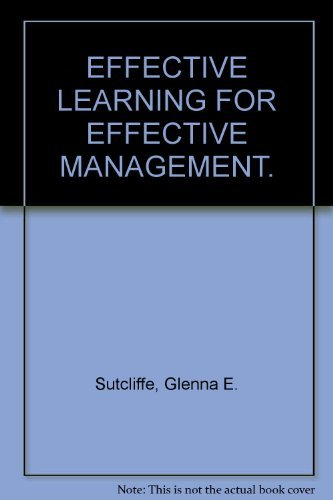 9780132442299: Effective Learning for Effective Management