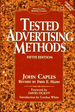 9780132446099: Tested Advertising Methods
