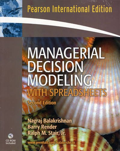 9780132446877: Managerial Decision Modeling with Spreadsheets and Student CD Package