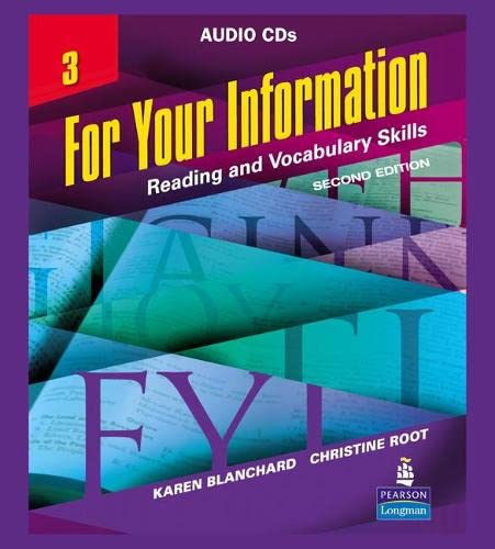 9780132447072: For Your Information 3: Reading and Vocabulary Skills