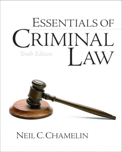 9780132447508: Essentials of Criminal Law (10th Edition)