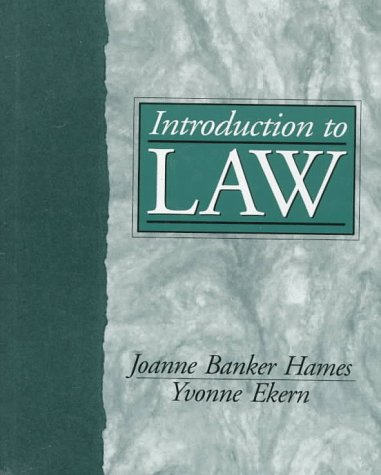 9780132447812: Introduction to Law