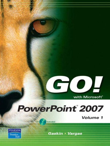 9780132447980: GO! with Microsoft PowerPoint 2007 Volume 1