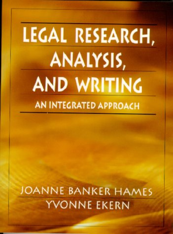9780132447997: Legal Research, Analysis, and Writing: An Integrated Approach