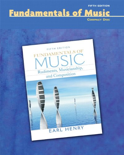 9780132448284: CD for Fundamentals of Music: Rudiments, Musicianship, and Composition