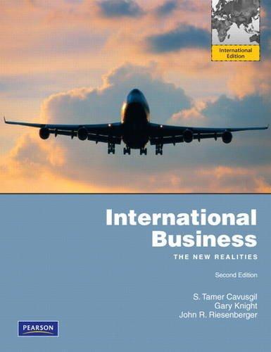 9780132453271: International Business: The New Realities: International Edition