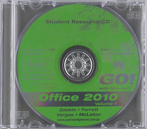 9780132454124: Student CD for GO! with Microsoft Office 2010 Volume 1
