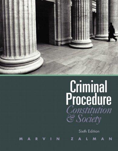 9780132457613: Criminal Procedure (6th Edition)