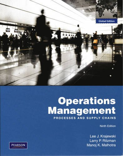 9780132458917: Operations Management: Processes and Supply chains. Global Edition