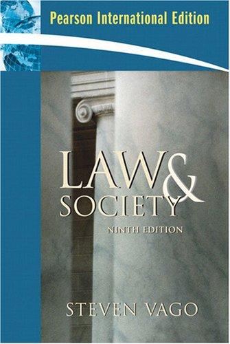 9780132459662: Pearson International Edition Law & Society