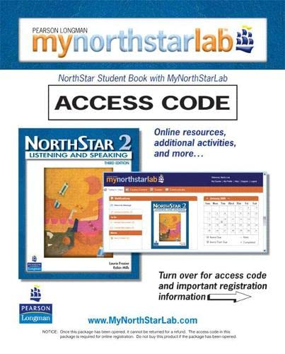 9780132460613: MyNorthStarLab, NorthStar Listening and Speaking 2 (Student Access Code only) (3rd Edition)