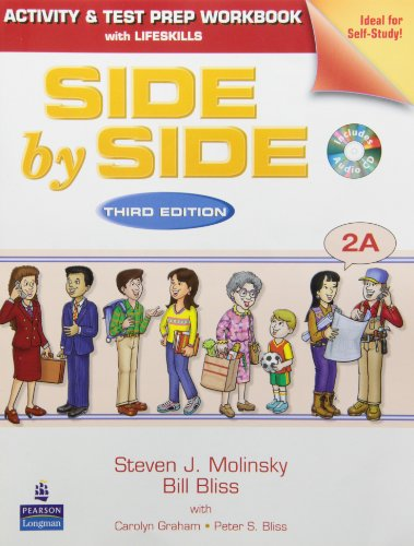Side by Side 2a Activity Test Prep WB W/CD (Split): Steven J Molinsky