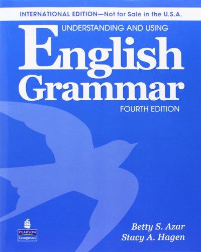 9780132464482: Understanding & Using Engl Grammar Internat'l SB w/AudioCD; w/o AK (4th Edition)