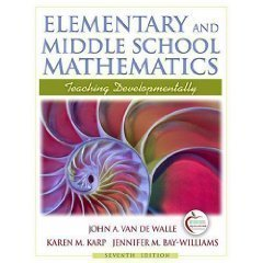 9780132464666: Elementary and Middle School Mathematics: Teaching Developmentally with Field Experience Guide (7th Edition)
