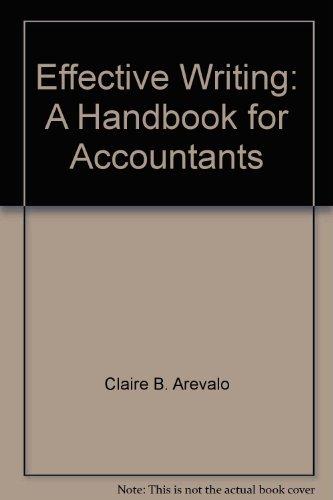 9780132465212: Effective writing: A handbook for accountants