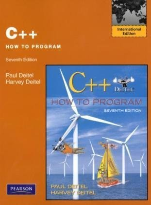 C++ How to Program: International Edition: Deitel, Harvey M.