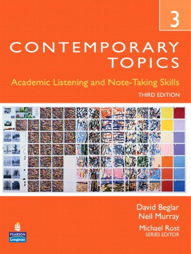 9780132469418: Contemporary Topics 3: Academic Listening and Note-Taking Skills (Student Book and Classroom Audio CD)