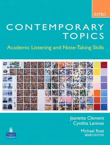 9780132469432: Contemporary Topics Introductory: Academic Listening and Note-Taking Skills (Student Book and Classroom Audio CD)